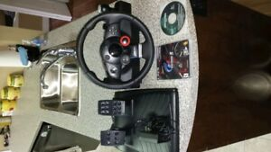 Logitech Driving Force Wheel & Peddles. Lowered price. Moving.
