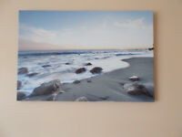 Stretched canvas beach picture