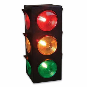 Large Blinking 3-Sided Traffic Light Signal Lamp
