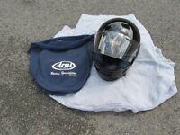 arai crash helmet size large black