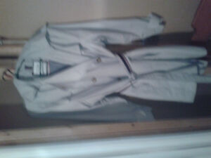 Brand New hooded beigh dress jacket