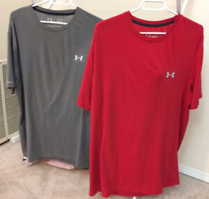 2 Men's Large Under Armour T-Shirts - Charged Cotton