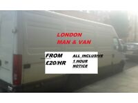 Removals Man And Van All London Areas