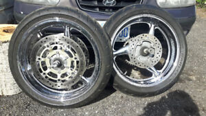 Crome cbr600f4i rims and tires