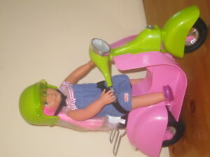 Layla Our Generation Doll with Moped