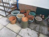Job Lot of Assorted Pots