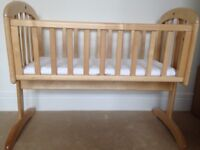 Swinging crib by John Lewis - quick sale
