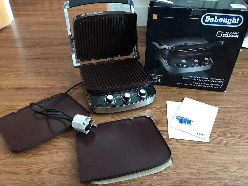 New Boxed Delonghi 5-in-1 Ceramic Grill & Griddle CGH902C Bromley Collection