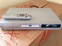 DVD Player DOLBY Silver Grey Part Working Buy To Fix Or For Parts Remote