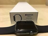 apple watch 1 42mm with 3 extra straps , excellent condition