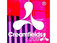 Creamfields 4 day standard camping ticket for sale