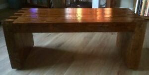 Solid wood rustic adjustable bench