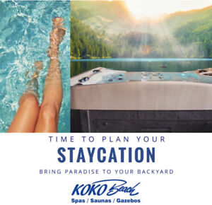 Time to plan your STAYCATION! YOUR VERY OWN BACKYARD OASIS