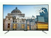 "Panasonic 55"" Curved 4K UHD smart wifi tv HDR HD freeview. Ask for delievery ."
