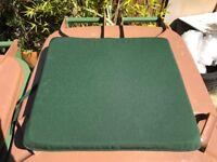 Patio seat cushions - brand new green