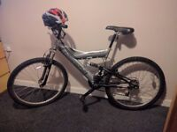 Shockwave sus500 mountain bike and unused adult helmet