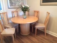 Skovby dining table, chairs and sideboard