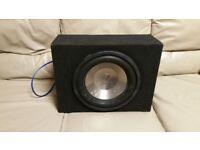 CAR SUBWOOFER DIAMOND AUDIO D112D2 12 INCH SPEAKER WITH ENCLOSURE BASS BOX SUB WOOFER
