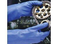 Marigold Industrial blue nitrile G25B gloves size M