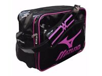 Mizuno Enamel Shoulder Bag 16DA030 96 Brand New Black/Rose Size 45x20x32 см