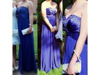 Blue A-line prom dress size 10