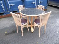 Cafe style Beach table and chairs