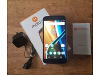 Moto G4 XT1622 Black - 16GB - Unlocked - Barely Used GRADE A + Box and Accessories