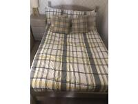 Small Double Bed and Bedside