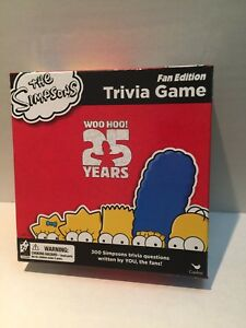 The Simpsons 25 Years Trivia Game - Fan Edition