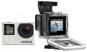 GoPro HERO4 Camcorder - Silver with LCD screen on back