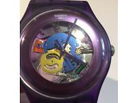 Collector's Swatch Purple Lacquered Watch
