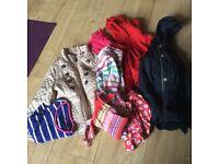 Bundle of girls clothesage 2/4 including next jacket Benetton jacket T-shirts dresses etc £5