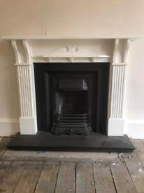 Cast iron fire and surround