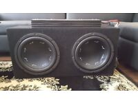Car Twin Sub woofer And Amplifier