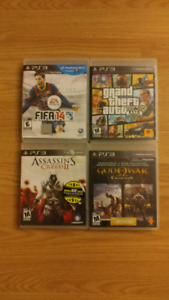 PS3 Games: GTA5, Assassin's Creed 2, God of War 1/2, FIFA14