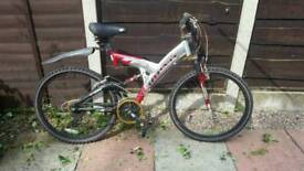 Rhino silver & red Mountain bike front & back suspension