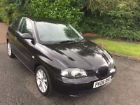 SEAT IBIZA 1.2 REFERENCE 06 REG IN BLACK WITH GREY TRIM AND SERVICE HISTORY WITH MOT APRIL 2018