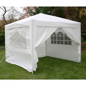 Pop up Gazebo with sides! new never been used.