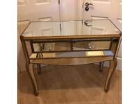 Fabulous Mirrored Gold Dressing Table Brand New