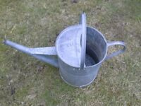 2 Gallon, Galvanised Watering Can. Good Condition and No Holes