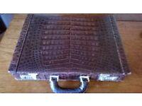 1980s snake / croc. skin brief case £300 ono