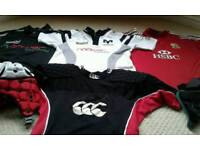 Boys Training Rugby Tops and Skull Caps
