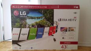 LG TV ULTRAHD/4K, SMART, ULTRA SLIM, 43''