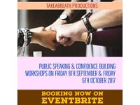 Public Speaking and Confidence Building One Day Workshop