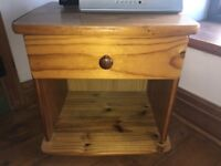 Wooden bedside table / tv stand / drawer