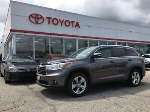 2014 Toyota Highlander Limited, One Owner, Carproof Clean, Local