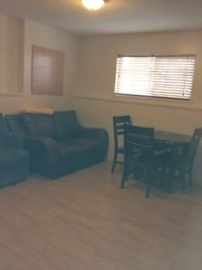 Self contained 2 bedroom bachelor suite fully furnished