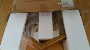 Gold Hexagon Wall Display with glass shelves-New in Box