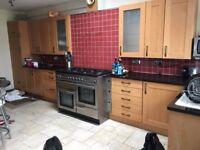Solid wood Kitchen with Granite worktops.