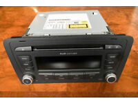 Genuine Audi Concert car radio CD player stereo removed from 2012 A3 8P in excellent condition